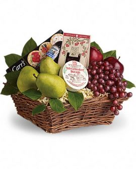 Image of Flowers or flower product titled Delicious Delights Basket