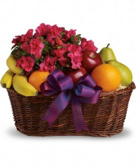 Image of Flowers or flower product titled Fruits and Blooms Basket