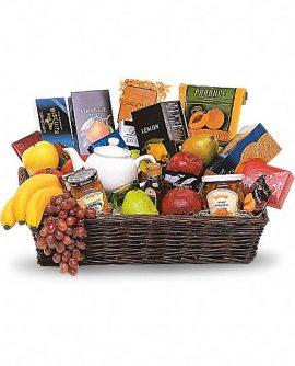 Image of Flowers or flower product titled Grande Gourmet Fruit Basket
