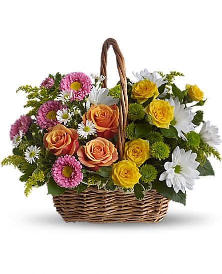Image of Flowers or flower product titled Sweet Tranquility Basket