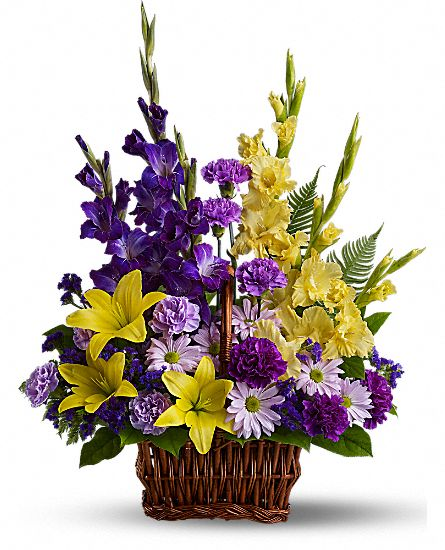 Image of Flowers or flower product titled Basket of Memories