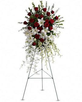 Image of Flowers or flower product titled Lily and Rose Tribute Spray