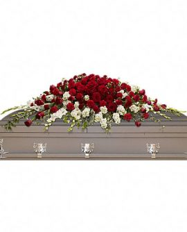Image of Flowers or flower product titled Garden of Grandeur Casket Spray