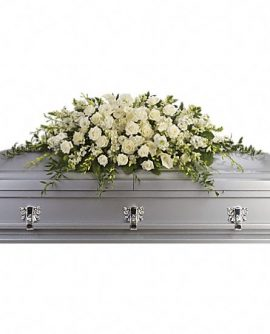 Image of Flowers or flower product titled Purity and Peace Casket Spray