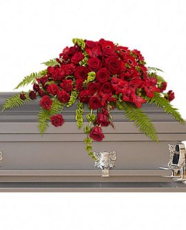 Image of Flowers or flower product titled Red Rose Sanctuary Casket Spray