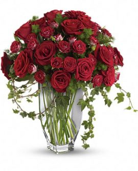 Image of Flowers or flower product titled Rose Romanesque Bouquet - Red Roses