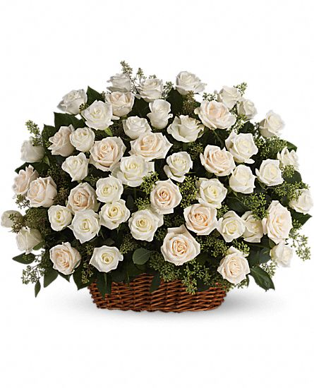 Image of Flowers or flower product titled Bountiful Rose Basket