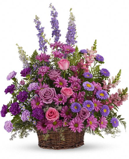 Image of Flowers or flower product titled Gracious Lavender Basket