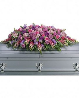 Image of Flowers or flower product titled Lavender Tribute Casket Spray