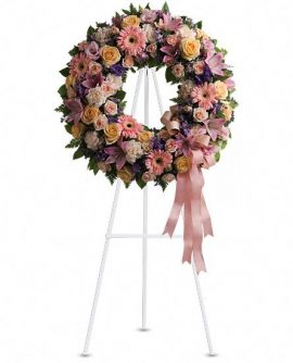 Image of Flowers or flower product titled Graceful Wreath