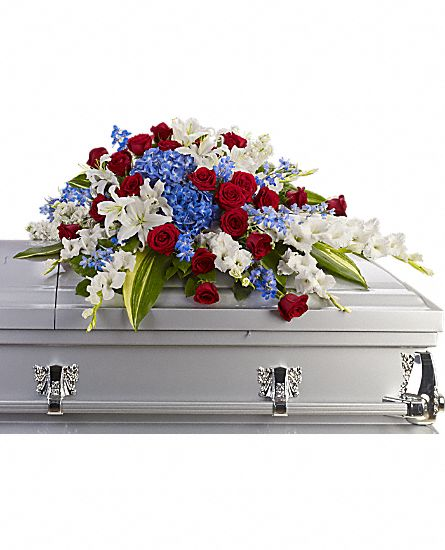 Image of Flowers or flower product titled Distinguished Service Casket Spray