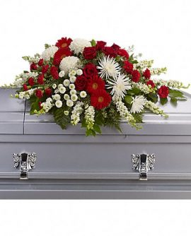 Image of Flowers or flower product titled Strength and Wisdom Casket Spray