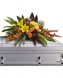 Image of Flowers or flower product titled Island Memories Casket Spray