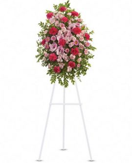 Image of Flowers or flower product titled Pink Tribute Spray