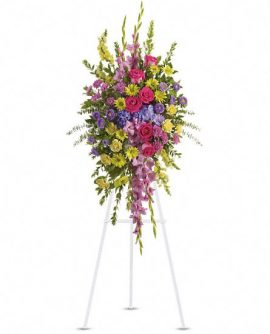 Image of Flowers or flower product titled Bright and Beautiful Spray