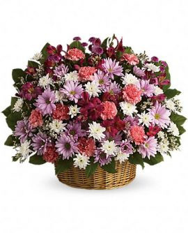 Image of Flowers or flower product titled Rainbow Reflections Basket
