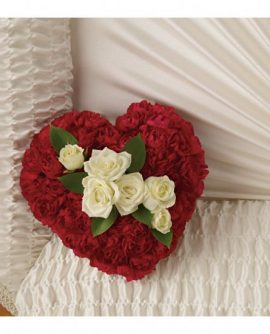Image of Flowers or flower product titled A Devoted Heart Casket Insert