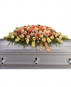 Image of Flowers or flower product titled Warmest Remembrance Casket Spray