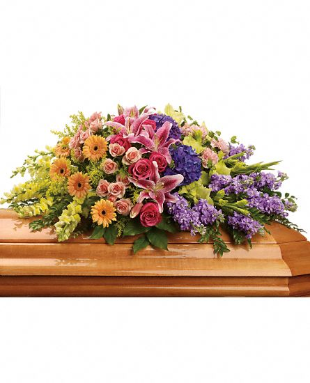 Image of Flowers or flower product titled Garden of Sweet Memories Casket Spray