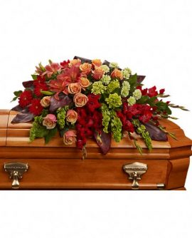 Image of Flowers or flower product titled A Fond Farewell Casket Spray