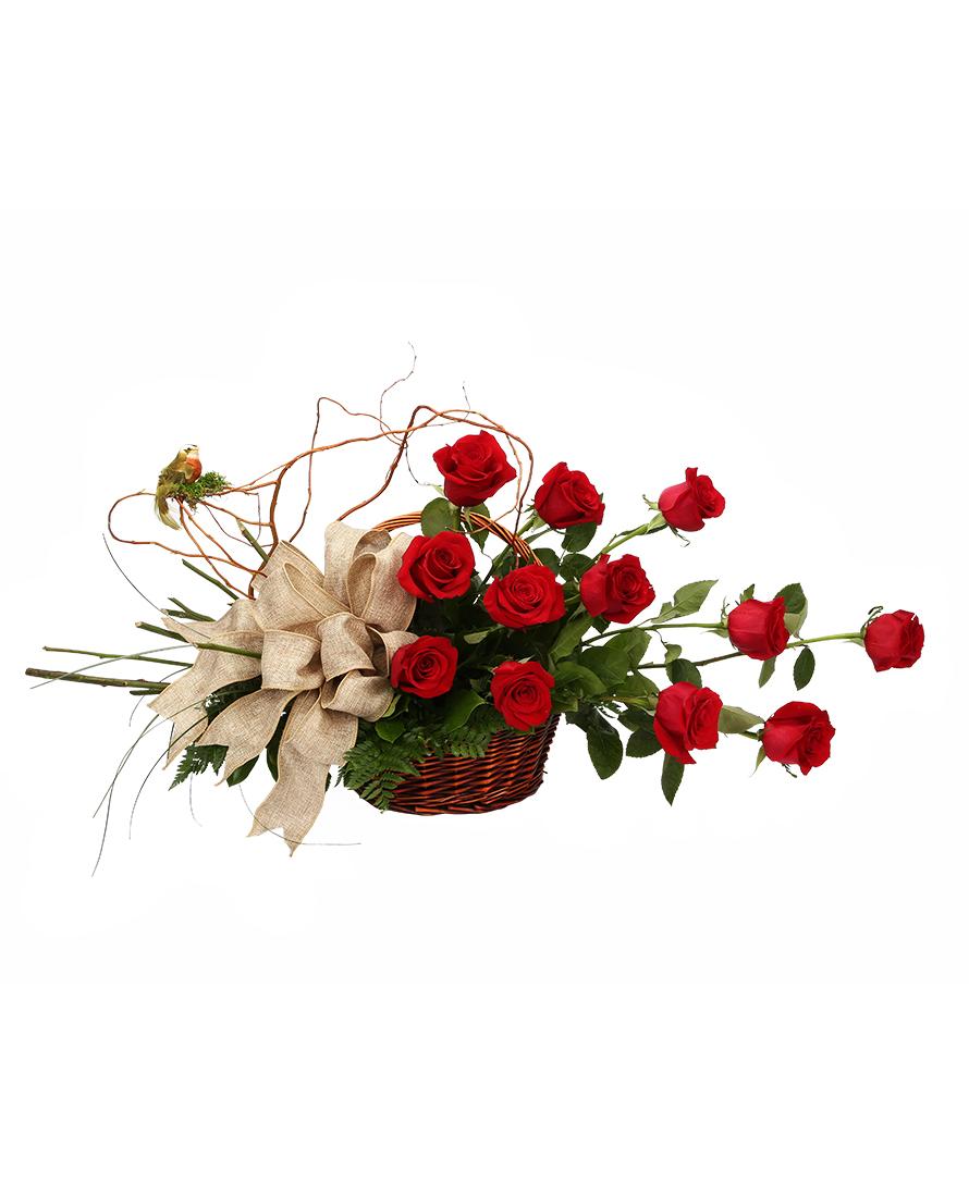 Hand-Picked Rose Basket