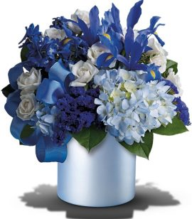 Image of Flowers or flower product titled Blue Blooms