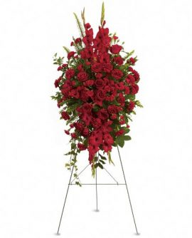 Image of Flowers or flower product titled Deep in Our Hearts Spray