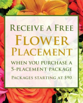 Image of Flowers or flower product titled Free Flower Placement