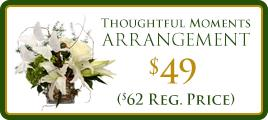 Thoughtful Moments Arrangement Promo