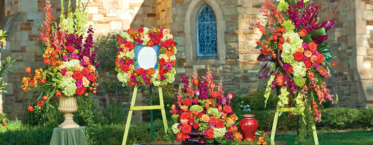 floral tribute cremation