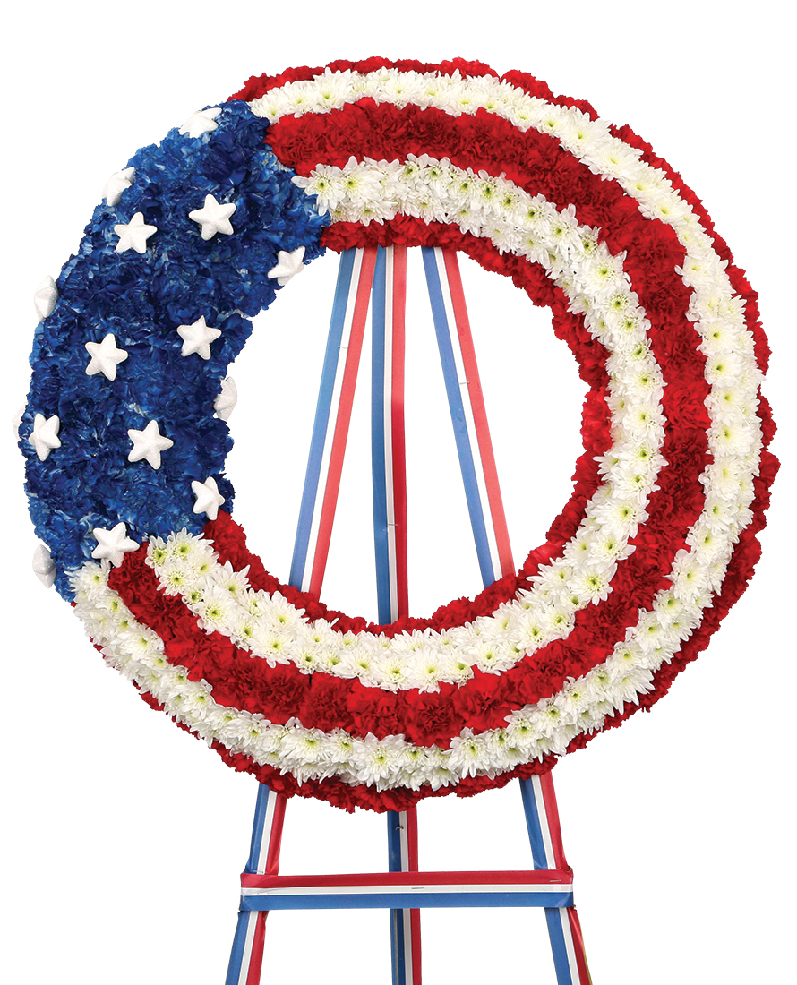 Stars and Stripes Memorial Wreath
