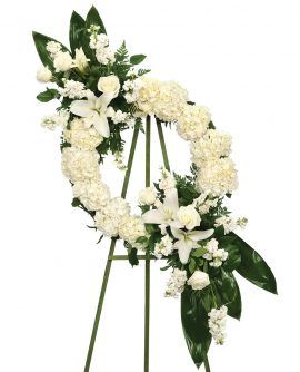 White Devotion Wreath