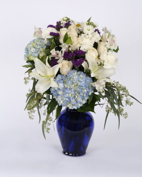 Image of Flowers or flower product titled Stars and Stripes Memorial Wreath