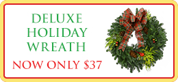 Deluxe Holiday Wreath Flower Promo