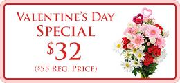 Valentines Flower Promo