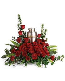 Image of Flowers or flower product titled Forever In Our Hearts Cremation Tribute